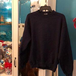 Navy blue crew neck sweatshirt